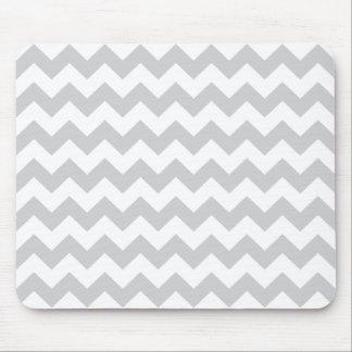 Stylish pale gray zig zags zigzag chevron pattern mouse pad