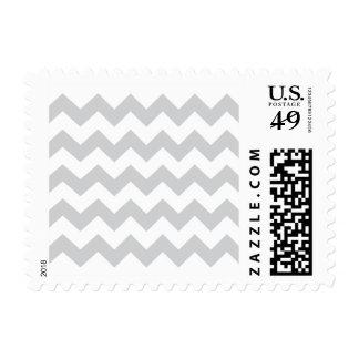 Stylish pale gray zig zags zigzag chevron pattern postage