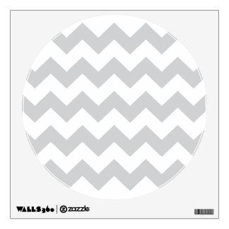 Stylish pale gray zig zags zigzag chevron pattern wall decal