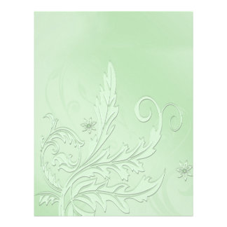 Stylish Pale Green Floral Letterhead