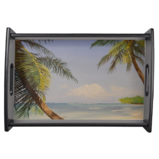 Stylish Palm Tree Serving Platter