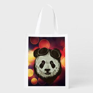 Stylish Panda Bear Grocery Bags
