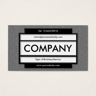 Stylish Panel II - Mid Gray Embossed Texture Business Card