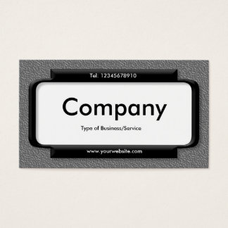 Stylish Panel - Mid Gray Embossed Texture Business Card