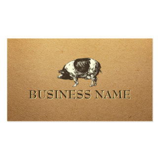Stylish Paper Texture Pig Business Card