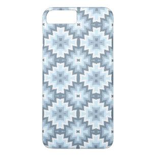 f42e38e8b Stylish Pastel Blue Gray White Ikat Tribal Pattern iPhone 8 Plus/7 Plus Case