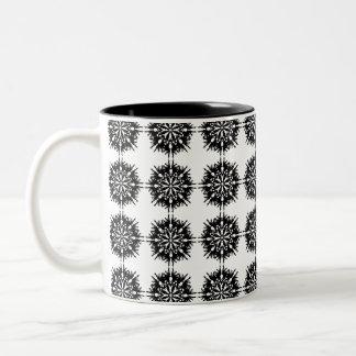 Stylish Pattern. Black and White. Coffee Mug