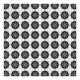 Stylish Pattern. Black and White. Posters