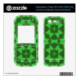 Stylish Pattern Green BlackBerry Decals
