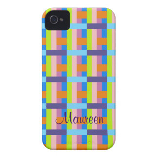Stylish pattern iPhone 4 case with Name