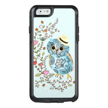 Stylish Pattern Owl Iphone 6 Symmetry Series Otterbox Iphone 6/6s Case by kazashiya at Zazzle