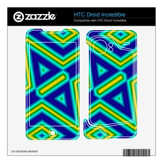 Stylish pattern with lines HTC droid incredible skin