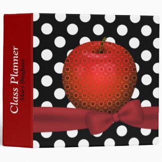 Stylish Patterned Apple Teacher s Class Planner 3 Ring Binders