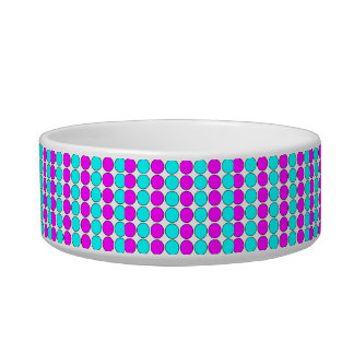 Stylish Patterns for Her : Pink & Cyan Polka Dots Bowl