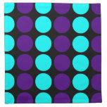 Stylish Patterns for Her : Purple & Cyan Polka Dot Cloth Napkin
