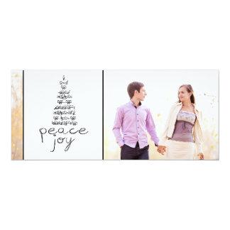 STYLISH PEACE, JOY PHOTO HOLIDAY FLAT CARD