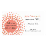 Stylish Peach and White Business Cards