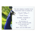 "Stylish Peacock Engagement Party Invitation 5"" X 7"" Invitation Card"