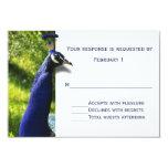 "Stylish Peacock Wedding Response RSVP Card 3.5"" X 5"" Invitation Card"