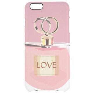 Stylish Perfume Bottle Unique Girly Pink and Gold Clear iPhone 6 Plus Case