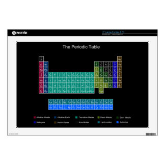 """Stylish Periodic Table - Blue & Black Decal For 17"""" Laptop"""