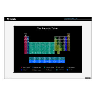 Stylish Periodic Table - Blue & Black Decal For Laptop