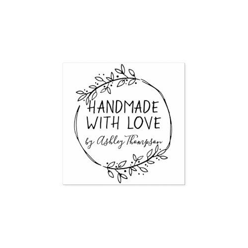 Stylish Personalized Handmade By Rubber Stamp