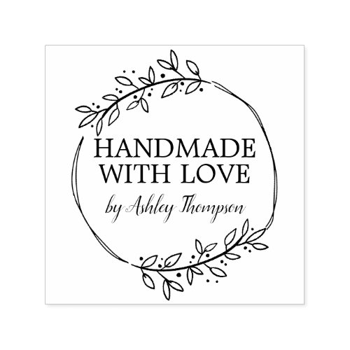 Stylish Personalized Handmade By Self_inking Stamp