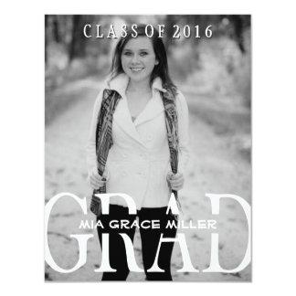 Stylish Photo 2016 Graduation Annouoncement Card