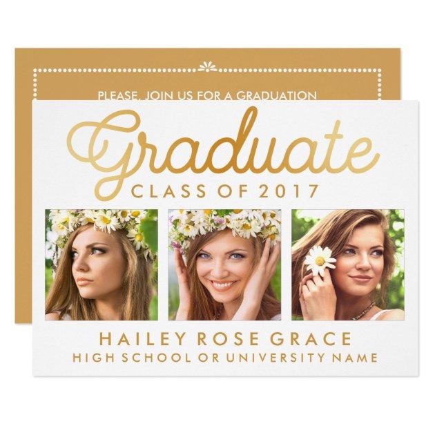 Stylish Photo Graduation Party Invitation