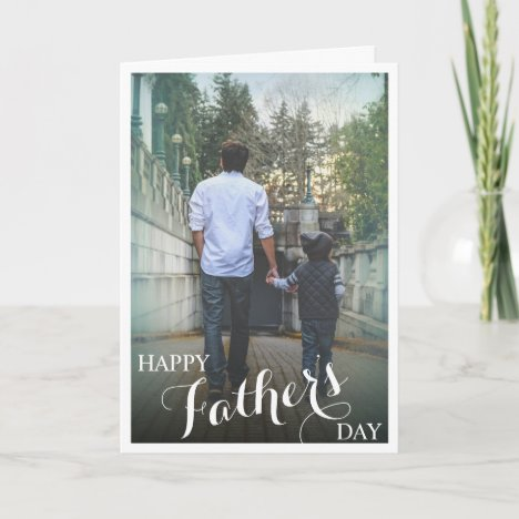 Stylish Photograph Happy Father's Day Card