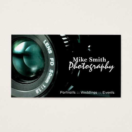 Stylish Photography double sided business cards