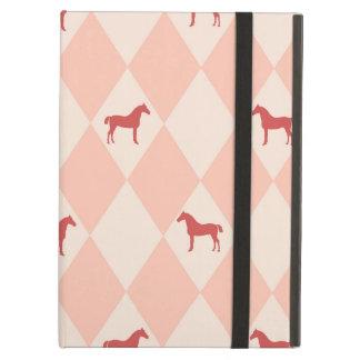Stylish Pink Harleqiun Horse Pattern iPad Air Case