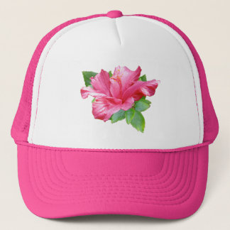 Stylish Pink Hibiscus Hat