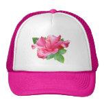 Stylish Pink Hibiscus Hat
