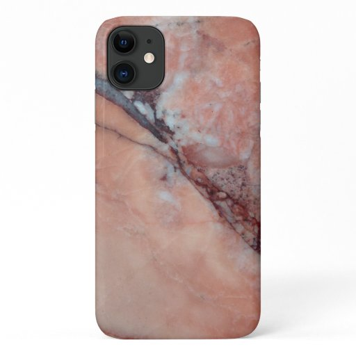 Stylish Pink Marble With Flaw iPhone 11 Case