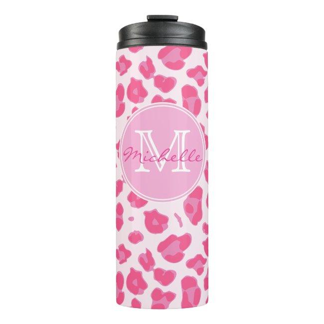Stylish Pink on Pink Leopard Print | Monogram