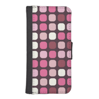 Stylish Pink Polka Dot Cosmetic iPhone 5 Wallet Case