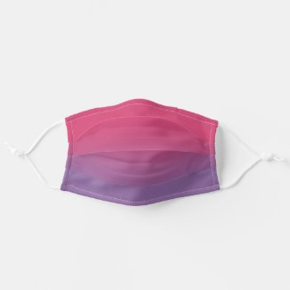 Stylish Pink to Purple Ombré Adult Cloth Face Mask