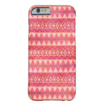 Stylish Pink Tribal Triangle Pattern iPhone 6 Case
