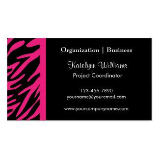 Stylish Pink Zebra Stripes Business Cards