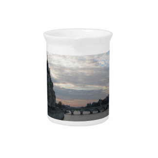 Stylish Pitcher with beautiful sunset in Paris
