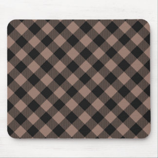 Stylish-Plaids_Diamond_Beige-Black_Unisex Mouse Pad