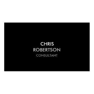 Stylish Plain Black Attractive Business Card