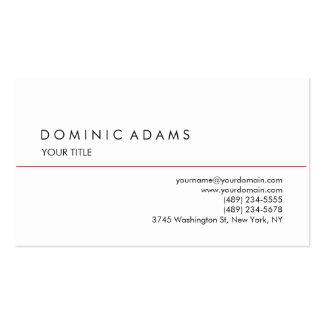 Stylish Plain Black White Professional Unique Business Card