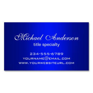 Stylish Plain Blue Gradient Multiple Purpose Magnetic Business Cards (Pack Of 25)