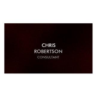 Stylish Plain Dark Red Attractive Business Card