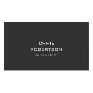 Stylish Plain Grey Attractive Business Card