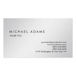 Stylish Plain Grey Simple Professional Modern Business Card