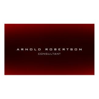 Stylish Plain Red Professional Business Card